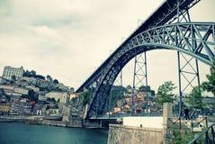 Dom Louis brige i Porto (Portugal) Arkivfoton