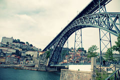 Dom Louis brige in Porto(Portugal) Stock Photos