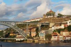 Dom LuÃs I brug, Porto, Portugal Royalty-vrije Stock Foto