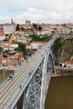 Dom LuÃs I brug, Porto, Portugal Royalty-vrije Stock Foto's