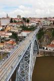 Dom LuÃs I brug, Porto, Portugal Royalty-vrije Stock Afbeelding