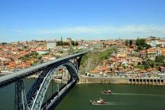 Dom Luís Bridge i Porto, Portugal Arkivbild