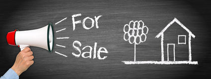 Dom lub dom dla sprzedaży - Real Estate obrazy stock