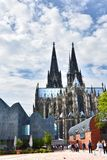 Dom and Ludwig Museum in Cologne. Cathedral St. Peter and art museum Ludwig in Cologne, Germany. Köln is one of the most visited cities  in north rhine Stock Photo