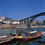 DOM Luis 1 ponticello a Oporto, Portogallo Fotografia Stock