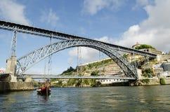 Dom luis Brücke in Porto Portugal Lizenzfreies Stockfoto