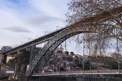 Dom Luis Bridge em Porto, Portugal Imagens de Stock