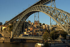 Dom Luis Bridge on Oporto Royalty Free Stock Images