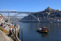 Dom Luis Bridge on Oporto, Portugal Royalty Free Stock Photo