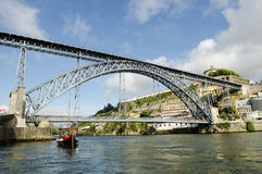 Dom luis bridge in porto portugal Royalty Free Stock Photo