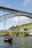 Dom luis bridge in porto portugal Royalty Free Stock Photos
