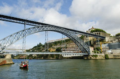Dom luis bridge in porto portugal Stock Photo