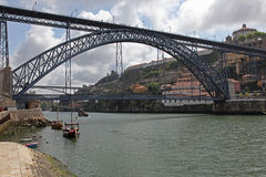 Dom Luis Bridge - Porto Portugal Stock Photo