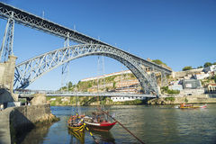 Dom luis bridge porto portugal Royalty Free Stock Photo