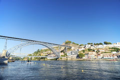 Dom luis bridge porto portugal Royalty Free Stock Photography