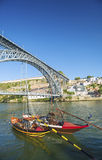Dom luis bridge porto portugal Royalty Free Stock Images