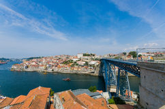 The dom luis bridge in porto, portugal Stock Photo