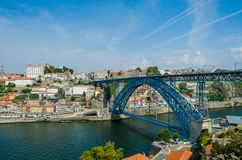The dom luis bridge in porto, portugal Stock Photography