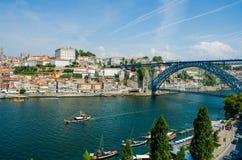 Dom Luis bridge in Porto, Portugal Stock Photography