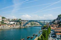 The dom luis bridge in porto, portugal Stock Image