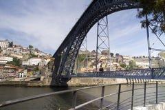 The dom luis bridge in porto, portugal Stock Images