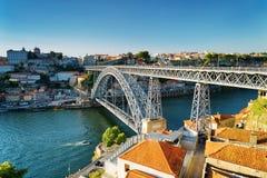 The Dom Luis Bridge in Porto, Portugal. Stock Photo