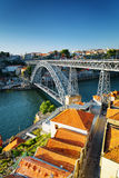 The Dom Luis Bridge in Porto, Portugal. Royalty Free Stock Images
