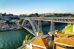The Dom Luis Bridge in Porto, Portugal. Stock Image