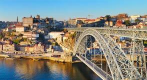 Dom Luis bridge, Porto, Portugal Stock Images