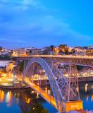 Dom Luis Bridge, Porto skyline royalty free stock photography