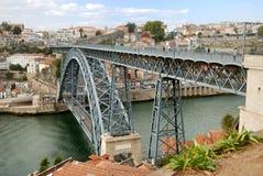 Dom Luis Brug (Porto) stock afbeelding