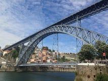 Dom Luis Brug in Porto Royalty-vrije Stock Foto's