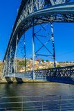 Dom Luis I Bridge, and the Douro river, in Porto Stock Photo