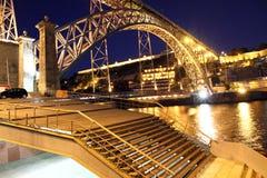 Dom Luis I bridge over Douro river , Porto, Portugal Stock Photo