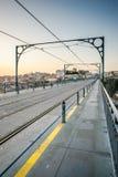 Dom Luis I Bridge over the river Douro in Porto, Portugal. Stock Photos
