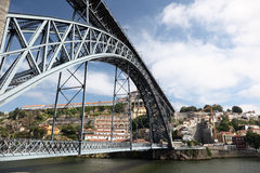 Dom Luis I Bridge in Porto Stock Photo