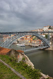 Dom Luis I Bridge in Porto and Gaia Stock Images