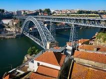 Dom Luis I Brige i Porto Royaltyfria Bilder
