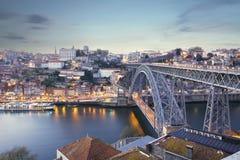 Dom Luis most i Douro rzeka, Portugalia Zdjęcie Royalty Free