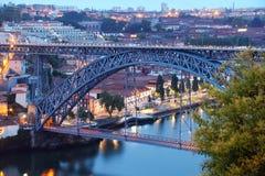 Dom Luis most w Porto (Ponte Luis Ja) Obrazy Royalty Free