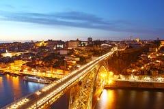 Dom Luis Porto i mosta stary miasteczko, Portugalia Obrazy Stock