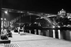 Dom Luis Przerzucam most i monaster. Porto. Portugalia Zdjęcie Royalty Free