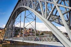 Dom Luis Przerzucam most w Porto Zdjęcia Royalty Free