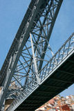 The Dom Luise 1 Bridge. Detail from the The Dom Luise 1 Bridge in Porto Stock Images