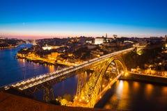 Dom Luiz-Brücke in Porto Portugal Stockbilder