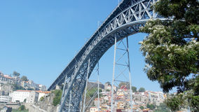 Dom Luiz-Brücke, Porto, Portugal Lizenzfreies Stockfoto