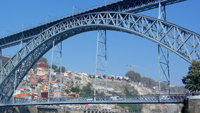 Dom Luiz-brug, Porto, Portugal Stock Foto's