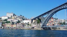 Dom Luiz-brug, Porto, Portugal Royalty-vrije Stock Foto