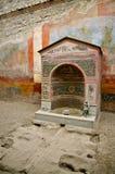 Dom mała fontanna Pompeii, Włochy Zdjęcia Stock