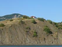 Dom na górze wzgórza fotografia stock